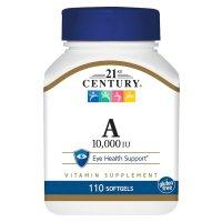21st Century, Vitamin A, 10,000 IU - 110 Softgels