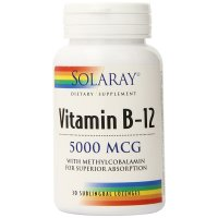 Solaray, Vitamin B-12, 5000 mcg - 30 Sublingual Lozenges