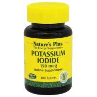 Nature's Plus, Potassium Iodide, 150 mcg - 100 Tablets