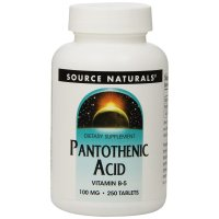 Source Naturals, Pantothenic Acid, 100 mg - 250 Tablets