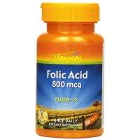 Thompson, Folic Acid, Plus B-12, 800 mcg - 30 Tablets