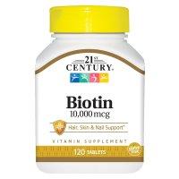 21st Century, Biotin, 10,000 mcg - 120 Tablets