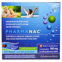 BioAdvantex Pharma, PharmaNAC, Pink Berry Blast, 900 mg - 24 Effervescent Tablets