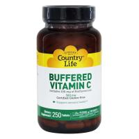 Country Life, Buffered Vitamin C, 500 mg - 250 Tablets