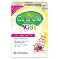 Culturelle, Kids Chewables Probiotics, Natural Bursting Berry Flavor - 30 Tablets