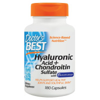 Doctor's Best, Best Hyaluronic Acid, With Chondroitin Sulfate - 180 Veggie Caps