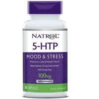 Natrol, 5-HTP, Extra Strength Mood & Stress Support, 100 mg - 30 Capsules