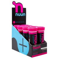 Nuun Hydration, Electrolyte + Caffeine Drink Tablets, Wild Berry - 8 Tubes (1 Box)