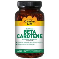 Country Life, Beta Carotene - 100 Softgels