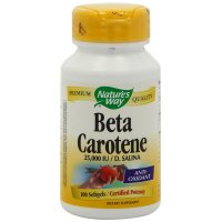 Nature's Way, Beta Carotene, 25,000 IU  D. Salina - 100 Softgels