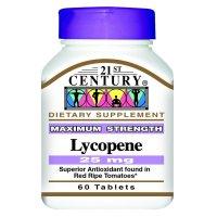 21st Century, Lycopene, Maximum Strength, 25 mg - 60 Tablets