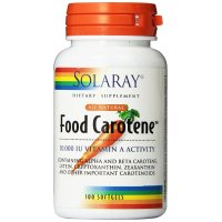 Solaray, Food Carotene, Natural Source, 10,000 IU - 100 Capsules
