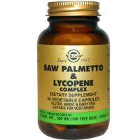 Solgar, Saw Palmetto & Lycopene Complex - 50 Vegetable Capsules