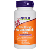 Now Foods, Astaxanthin, Extra Strength, 10 mg - 60 Softgels