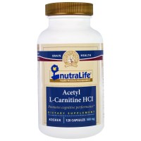 NutraLife, Acetyl L-Carnitine HCI, 500 mg - 120 Capsules