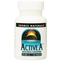 Source Naturals, Active A, 25,000 IU - 120 Tablets