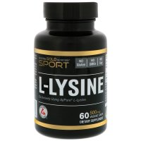 California Gold Nutrition, L-Lysine, 500 mg - 60 Veggie Caps