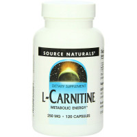 Source Naturals, L-Carnitine, 250 mg - 120 Capsules