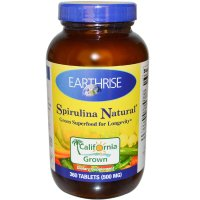 Earthrise, Spirulina Natural, 500 mg - 360 Tablets