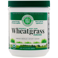 Green Foods Corporation, Organic and Raw, Wheatgrass Powder - 8.5 oz (240 g)