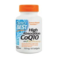 Doctor's Best, High Absorption CoQ10 with BioPerine, 100 mg - 60 Softgels