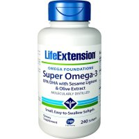 Life Extension, Omega Foundations, Super Omega-3 - 240 Softgels