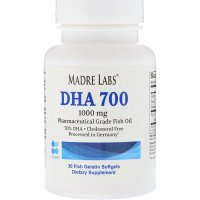 Madre Labs, DHA 700 Fish Oil, Pharmaceutical Grade, 1000 mg - 30 Fish Gelatin Softgels