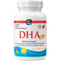 Nordic Naturals, DHA Xtra, 1000 mg, Strawberry - 60 Soft Gels