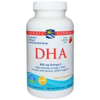 Nordic Naturals, DHA, Strawberry, 500 mg - 180 Soft Gels