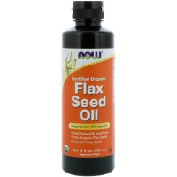 Now Foods, Certified Organic, Flax Seed Oil - 12 fl oz (355 ml)