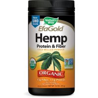 Nature's Way, Organic, EfaGold, Hemp Protein & Fiber, Cold Milled Powder - 16 oz (454 g)