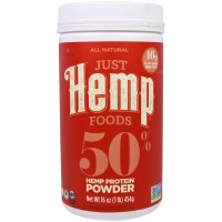 Just Hemp Foods, 50% Hemp Protein Powder - 16 oz (454 g)