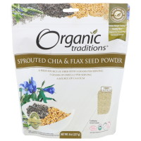 Organic Traditions, Sprouted Chia & Flax Seed Powder - 8 oz (227 g)