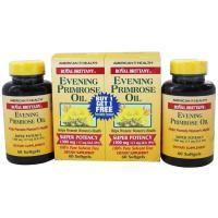 American Health, Royal Brittany, Evening Primrose Oil, 1300 mg, 60+60 Softgels