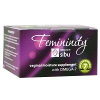 Sibu Beauty, Femininity, Vaginal Moisture Supplement with Omega-7 - 60 Vegetarian Softgels