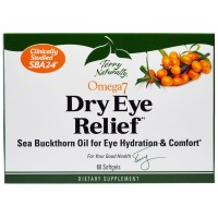 EuroPharma, Terry Naturally, Omega 7 Dry Eye Relief - 60 Softgels