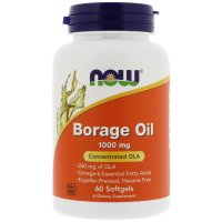 Now Foods, Borage Oil, Concentrated GLA, 1000 mg - 60 Softgels