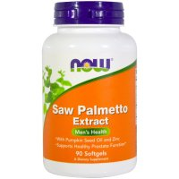 Now Foods, Saw Palmetto Extract, With Pumpkin Seed Oil and Zinc, 160 mg -  90 Softgels
