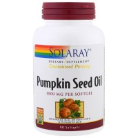 Solaray, Pumpkin Seed Oil, 1000 mg - 90 Softgels