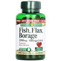Nature's Bounty, Fish, Flax, Borage, 1,200 mg - 72 Rapid Release Softgels