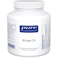 Pure Encapsulations, Borage Oil, Hypoallergenic - 180 Softgel Capsules