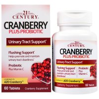 21st Century, Cranberry Plus Probiotic - 60 Tablets