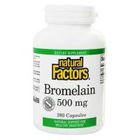 Natural Factors, Bromelain, 500 mg - 180 Capsules