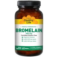 Country Life, Bromelain, Triple Strength, 500 mg - 60 Tablets