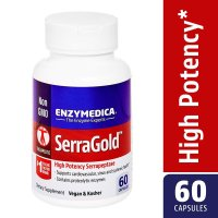 Enzymedica, SerraGold, High Potency Serrapeptase - 60 Capsules