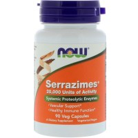 Now Foods, Serrazimes - 90 Veg Capsules