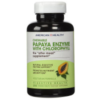 American Health, Papaya Enzyme with Chlorophyll - 250 Chewable Tablets