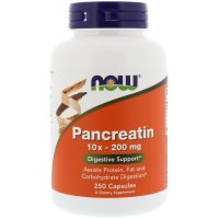 Now Foods, Pancreatin, 10X - 200 mg - 250 Capsules