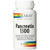 Solaray, Pancreatin 1300 - 90 Capsules