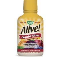 Nature's Way, Alive! Liquid Fiber with Prebiotics, Pomegranate-Berry Flavor - 16 fl oz (32
